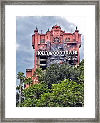 Hollywood Tower Hotel Walt Disney World Framed Print