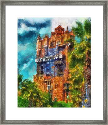 Hollywood Tower Hotel Wdw Photo Art 03 Framed Print by Thomas Woolworth