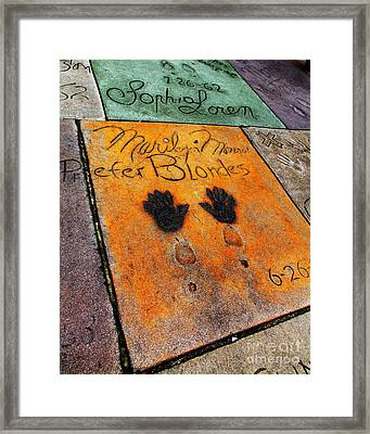 Hollywood Walk Of Fame Marilyn Monroe 5d29039 Framed Print by Wingsdomain Art and Photography