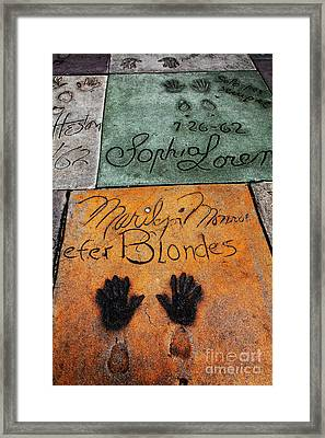 Hollywood Walk Of Fame Marilyn Monroe 5d29043 Framed Print by Wingsdomain Art and Photography