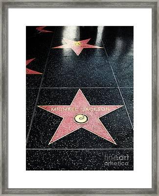 Hollywood Walk Of Fame Michael Jackson 5d28973 Framed Print