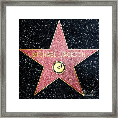 Hollywood Walk Of Fame Michael Jackson 5d28974 Framed Print by Wingsdomain Art and Photography