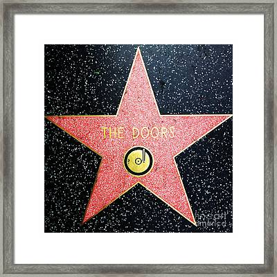 Hollywood Walk Of Fame The Doors 5d29063 Framed Print by Wingsdomain Art and Photography