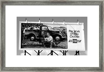 Hollywoodland Chevy Sign Framed Print by David Lee Thompson
