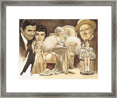 Hollywoods Golden Era Framed Print by Dick Bobnick