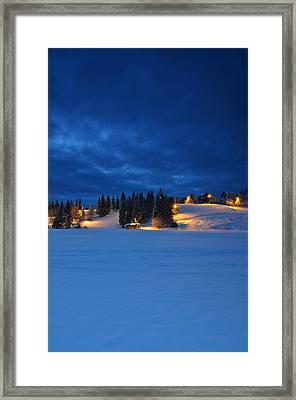 Holmenkollen Blue Framed Print by Aaron Bedell