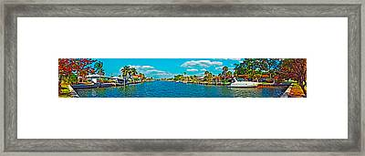 Holmes Beach Canal Daytime Framed Print