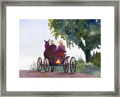 Holmes County Ohio Framed Print by Marsha Elliott