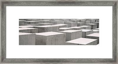 Holocaust Memorial, Monument Framed Print
