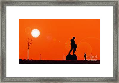 Holocaust Memorial - Sunset Framed Print by Nishanth Gopinathan
