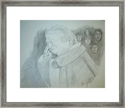 Holocaust Memories Framed Print by Esther Newman-Cohen