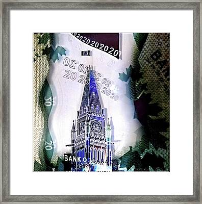 Holographic Parlement Framed Print by Danielle  Parent