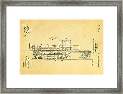 Holt Traction Engine Patent Art 1907 Framed Print by Ian Monk