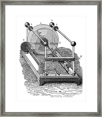 Holtz Electrostatic Generator Framed Print by Science Photo Library