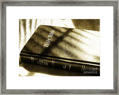 Holy Bible Framed Print by Andrea Anderegg