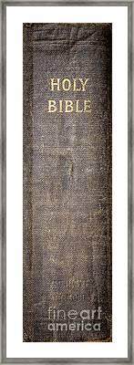 Holy Bible Framed Print by Edward Fielding