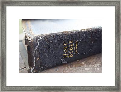 Holy Bible Framed Print by Gwyn Newcombe