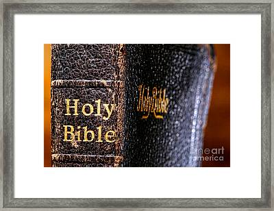 Holy Bible Framed Print by Olivier Le Queinec