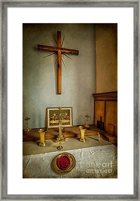Holy Chalice Framed Print by Adrian Evans