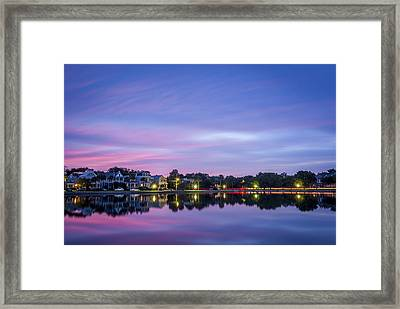 Holy City Reflections Framed Print