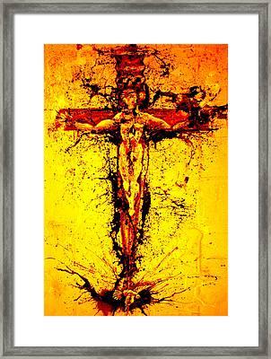 Holy Cross Unholy Sword Framed Print