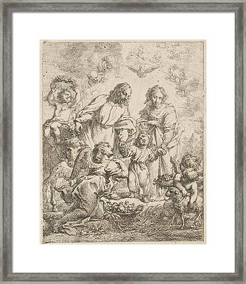 Holy Family, Cornelis Schut Framed Print by Cornelis Schut (i)