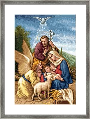 Holy Family Framed Print by Stoyanka Ivanova