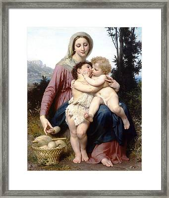Holy Family Framed Print by William Bouguereau