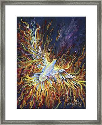 Holy Fire Framed Print