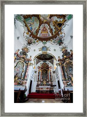 Holy Ghost Hospital Church - Fussen - Germany Framed Print by Gary Whitton