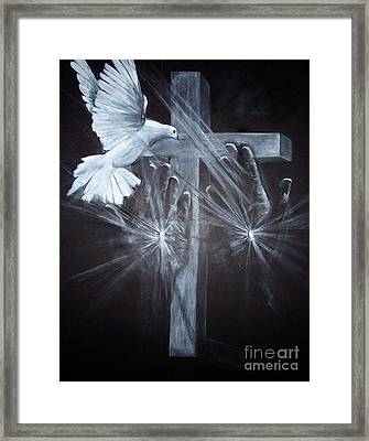 Holy Hands Framed Print