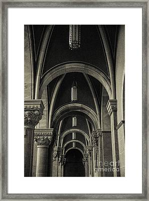 Holy Hill Archways Framed Print by Christina Klausen