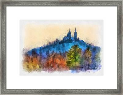 Framed Print featuring the photograph Holy Hill Autumn by Clare VanderVeen