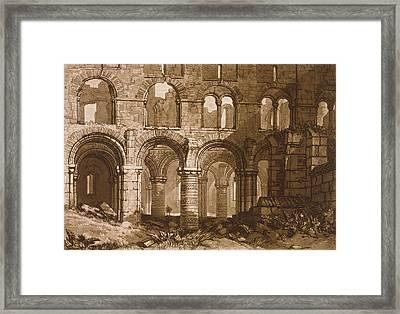 Holy Island Cathedral Framed Print by Joseph Mallord William Turner