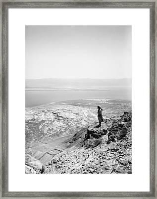 Holy Land Dead Sea, C1910 Framed Print