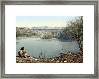Holy Land River Jordan Framed Print