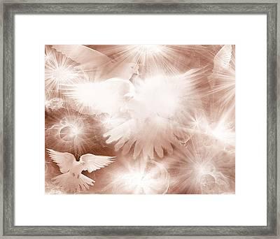 Holy Light Framed Print