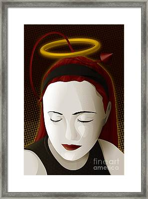 Holy Mary Framed Print by Sandra Hoefer