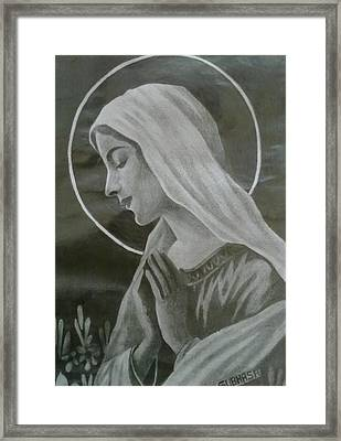 Holy Mother Framed Print by Subhash Mathew