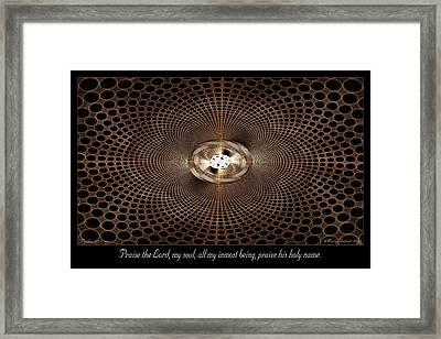Holy Name Framed Print