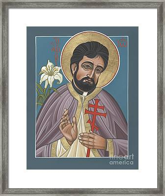 Framed Print featuring the painting Holy New Martyr Father John Karastamatis Of Santa Cruz 216 by William Hart McNichols