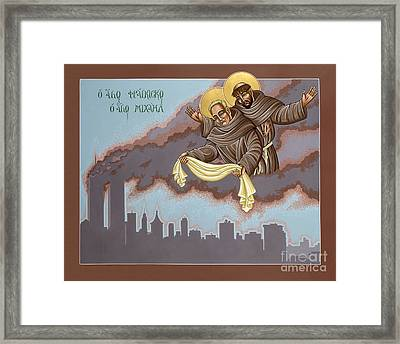 Framed Print featuring the painting Holy Passion Bearer Mychal Judge 132 by William Hart McNichols