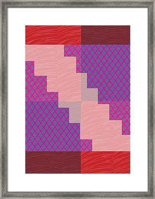 Framed Print featuring the photograph Holy Purple Diamond Pattern And Silken Light Crystal Across by Navin Joshi