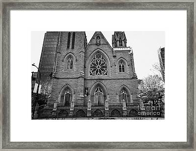 holy rosary cathedral headquarters of the roman catholic archdiocese of Vancouver BC Canada Framed Print by Joe Fox