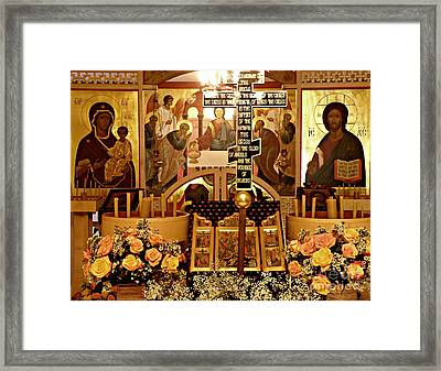 Holy Saturday At St Mary Magdalen Church 2 Framed Print by Sarah Loft