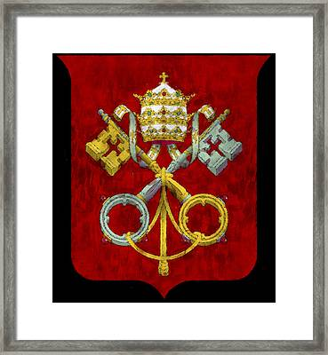 Holy See Flag Framed Print by World Art Prints And Designs