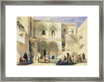 Holy Sepulchre, In Jerusalem Framed Print