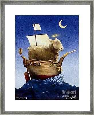 Holy Sheep Ship... Framed Print by Will Bullas