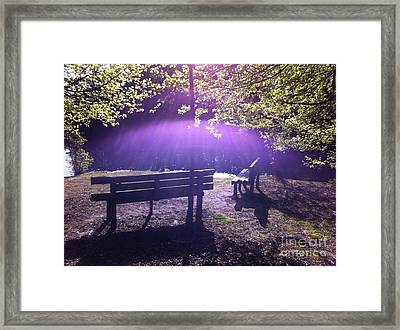Holy Spirit Appears Sunday Morning Framed Print