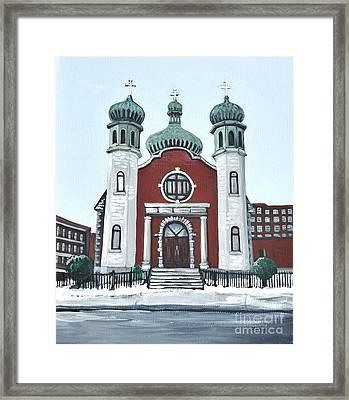 Holy Spirit Ukrainian Catholic Church Pointe St. Charles Framed Print by Reb Frost